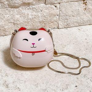 Kate Spade Lucky Cat Hello Tokyo Hard Clutch